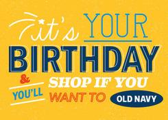 ON-it's Your Birthday Yellow