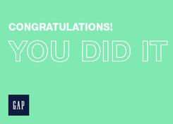 GAP- Congrats You Did It