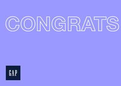 GAP- Congrats Purple