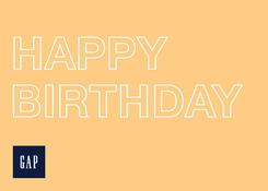 GAP- Happy Birthday Yellow