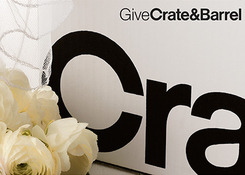 Crate & Barrel Registry faceplate